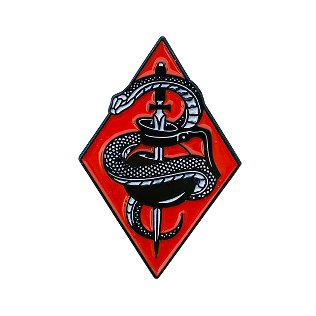 Coffee Snake Pin - Red
