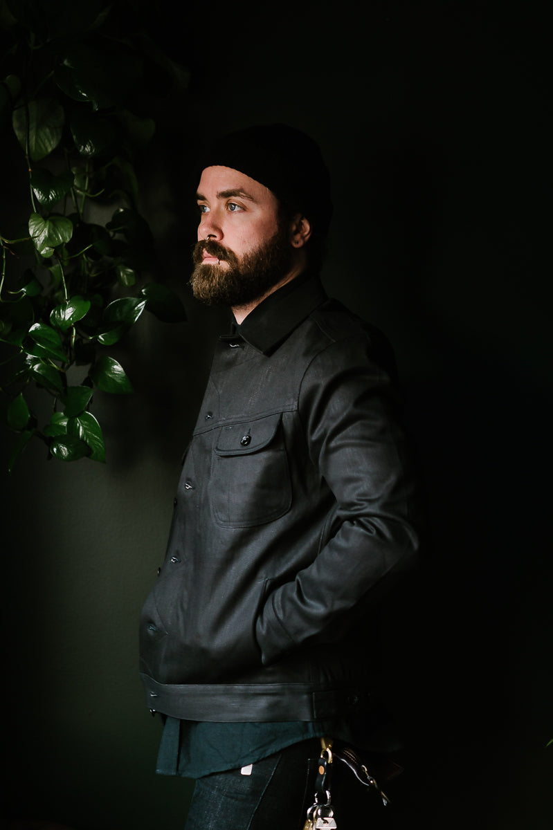The Long Haul Jacket - Black Over-Dye Selvage