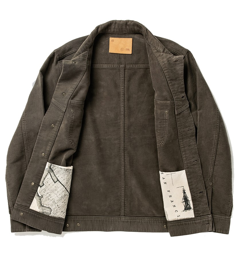 The Long Haul Jacket - Moss Brushed Reverse Sateen