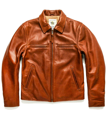 The Moto Jacket - Whiskey Steerhide