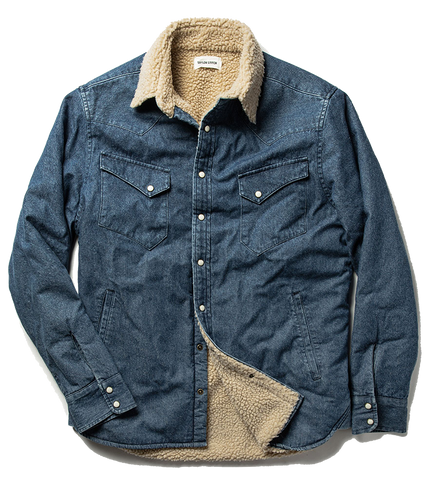 The Western Shirt Jacket - Indigo
