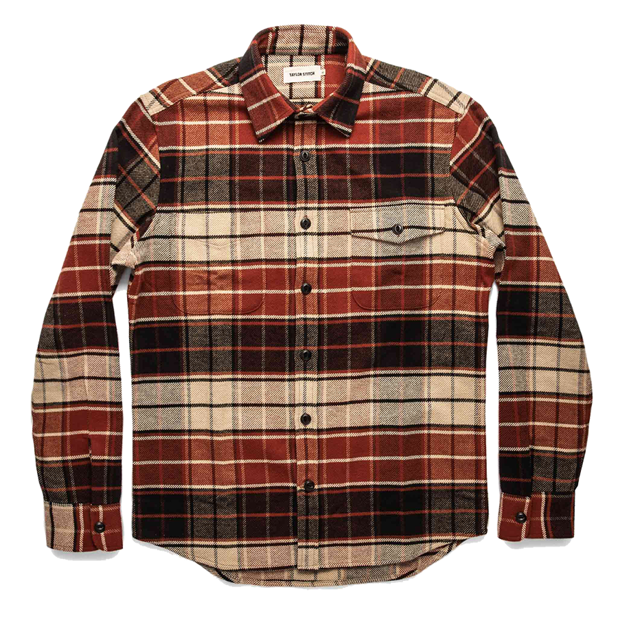 The Crater Shirt - Rust Plaid