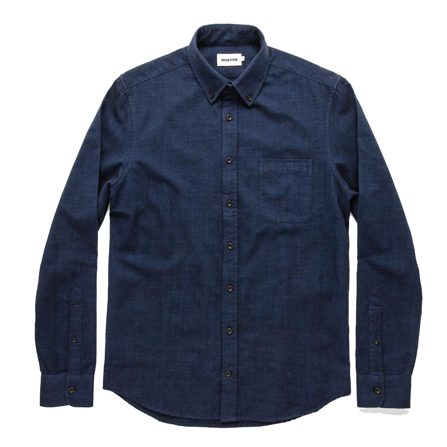 The L/S Jack - Brushed Navy Oxford