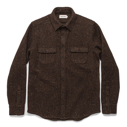The Leeward Shirt - Chocolate Donegal