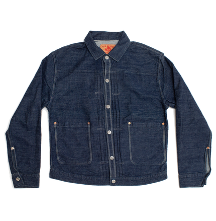 Pleated Jacket - Indigo