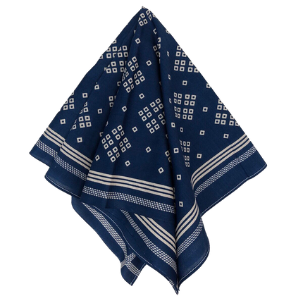 Liberty Selvedge Bandanna - Indigo Blue