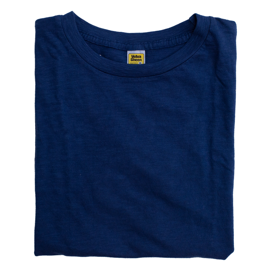 Rolled S/S Regular Tee - Blue