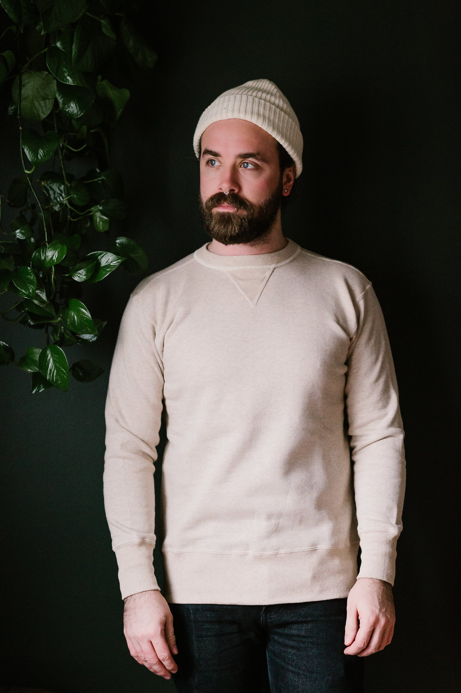Lot 403 - Loopwheel Sweatshirt - Oatmeal