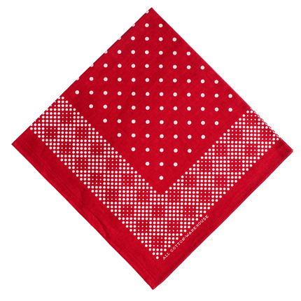5228 - Selvedge Mosaic Bandana - Red
