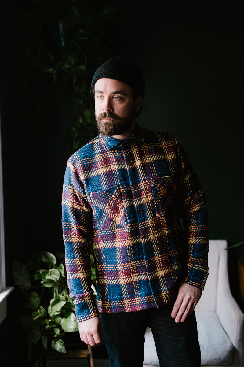 Whiting Shirt Madras - Navy