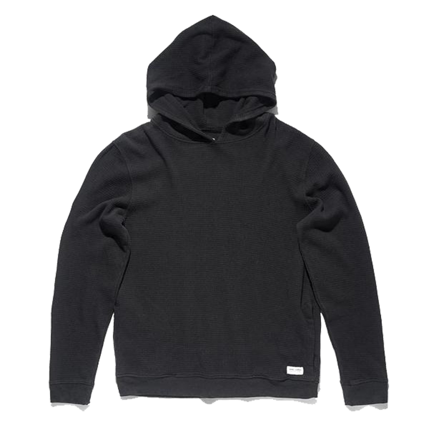 Censor Fleece Waffle Hoodie - Dirty Black