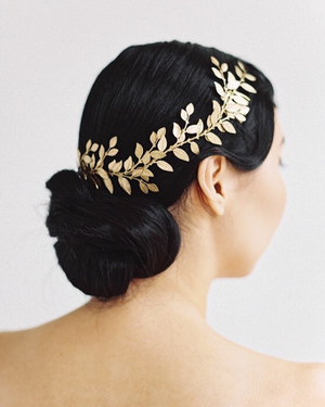 Alena Wrap Headpiece | Gold