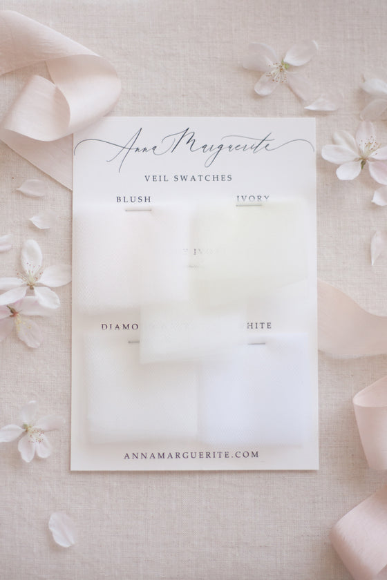 Veil Swatches to compare with your dress