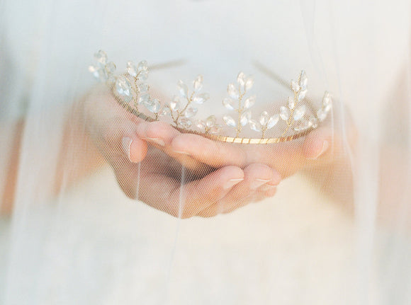 Crystal Leaf Tiara #116