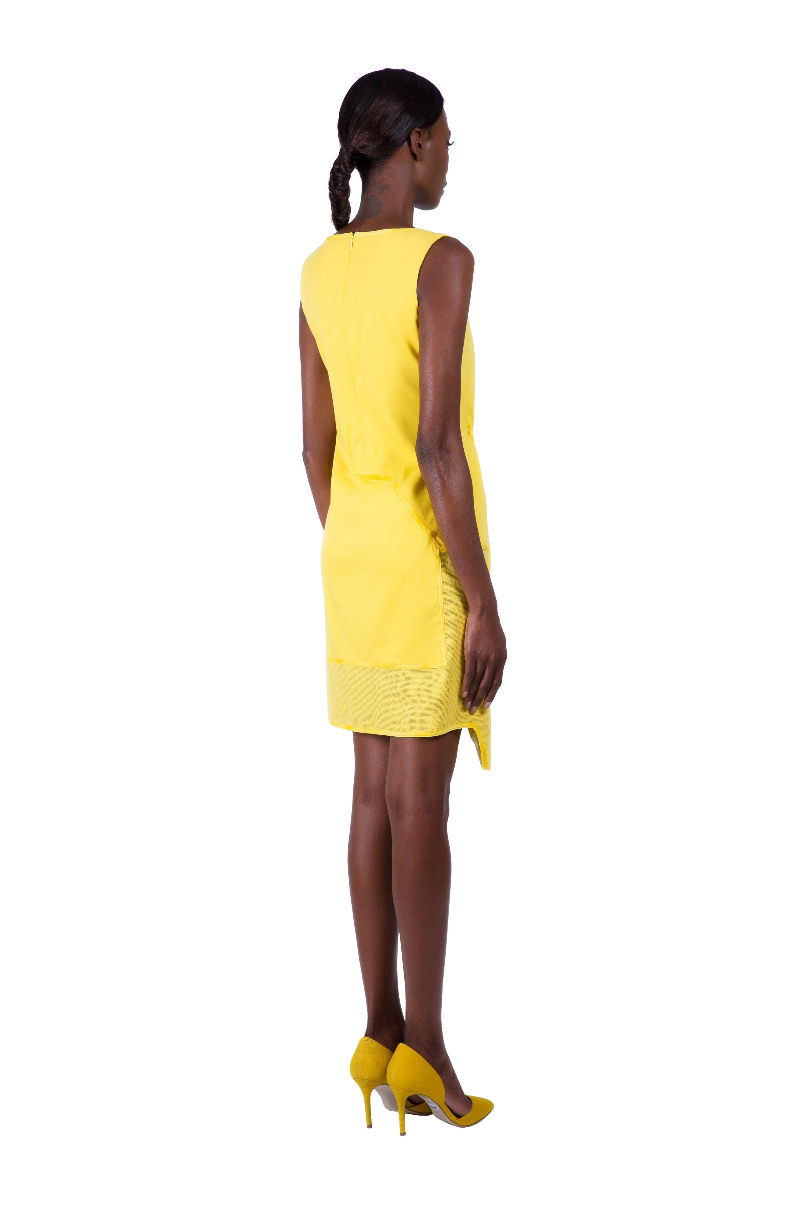 KARIGAM CITRINE ANGLE DRESS