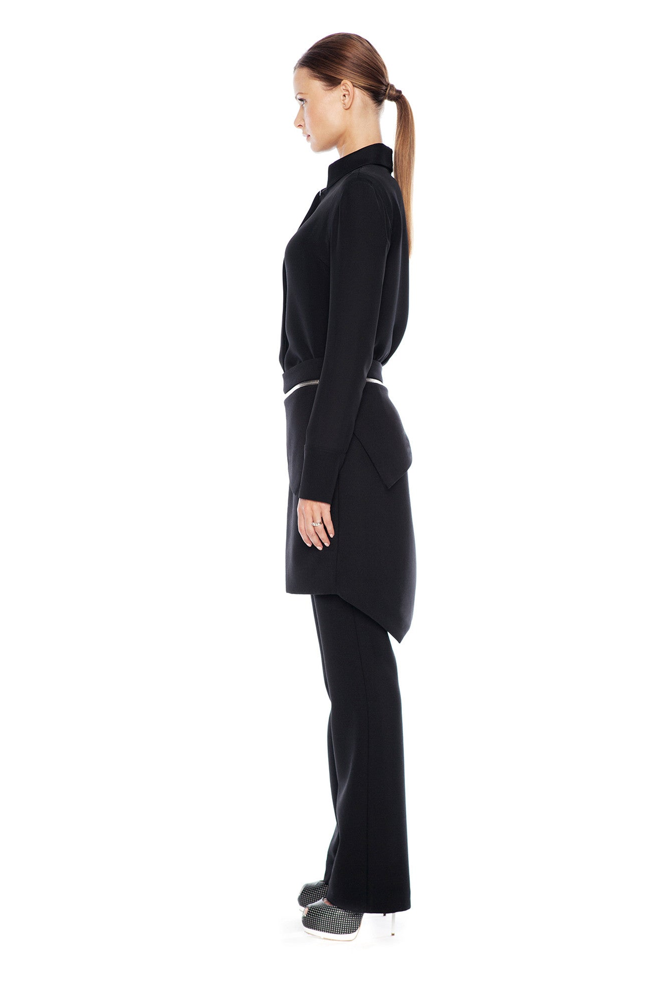 KARIGAM ASSYMMETRIC DOUBLE LAYER PANT