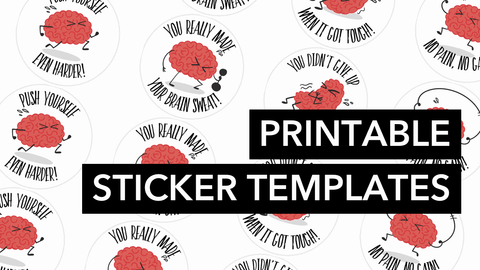 Printable Brain Stickers
