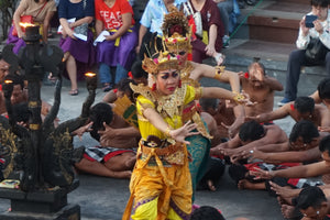 The Kecak Fire Dance at Uluwatu Temple, Bali, Indonesia