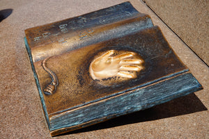 The Book With the Golden Hand Print in Almaty, Kazakhstan