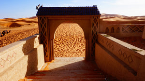 An Outpost in the Sahara Desert in Morocco