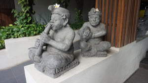 Statues Outside The Bene Hotel in Kuta, Bali