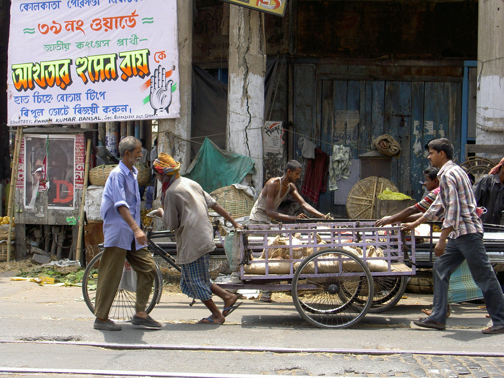 Hard At Work In Calcutta