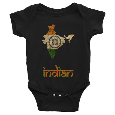 The India Flag Baby Short Sleeve One-Piece