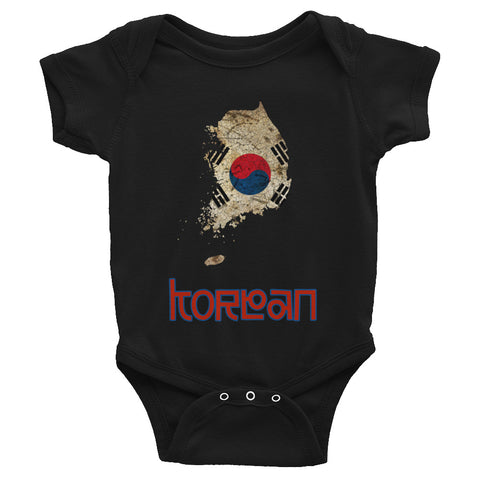 The Korea Flag Baby Short-Sleeve One-Piece