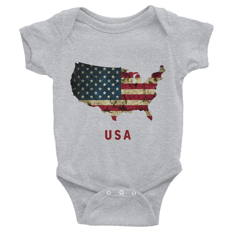 The USA Flag Baby Short-Sleeve One-Piece