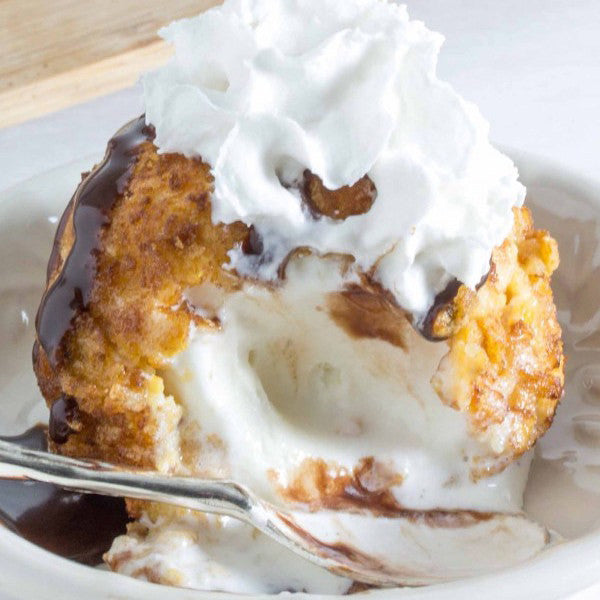 how to make deep fried ice cream at home
