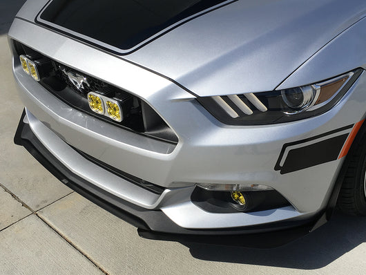 2015-2017 Ford Mustang (Both Non-GT and GT Perf. Pack) 3-Piece Front Splitter [FO-P8T-FSP-02]