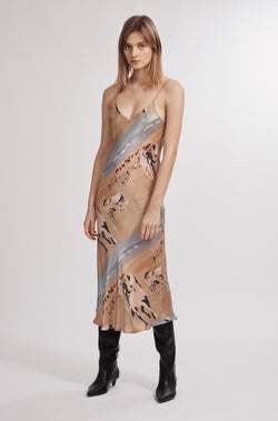90S SILK SLIP DRESS HORSES