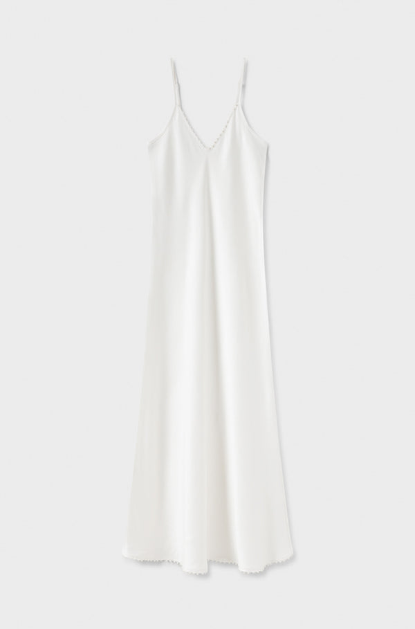 BRIDAL 90'S PEARL SLIP DRESS