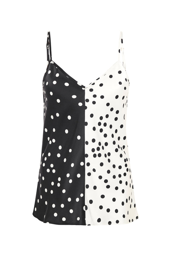 TWO-TONE CAMI BROKEN DOT