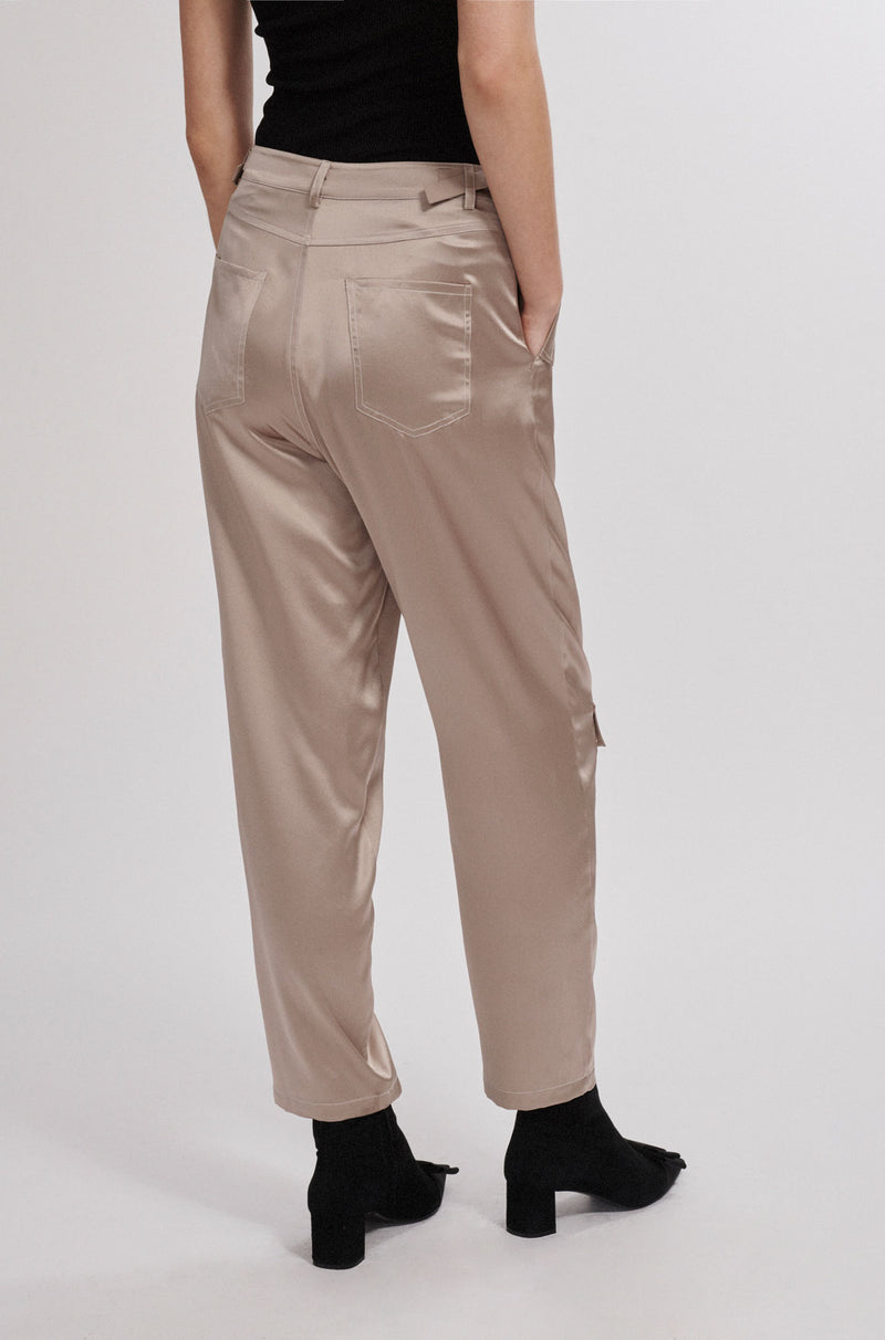 LOW POCKET PANTS ALUMINIUM