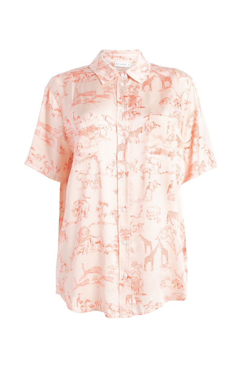 SHORT SLEEVE BOYFRIEND SHIRT SERENGETI