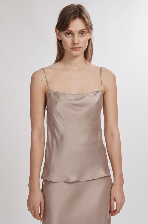 STRAIGHT NECK CAMI ALUMINIUM