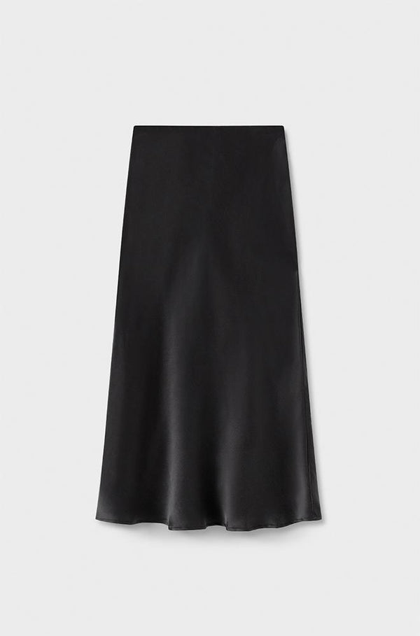 BIAS CUT SKIRT BLACK