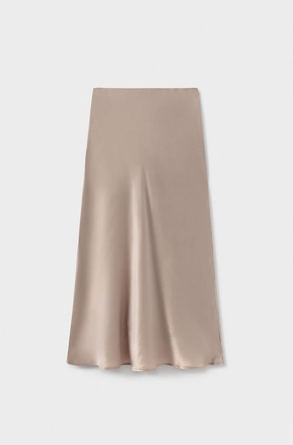 BIAS CUT SKIRT HAZELNUT