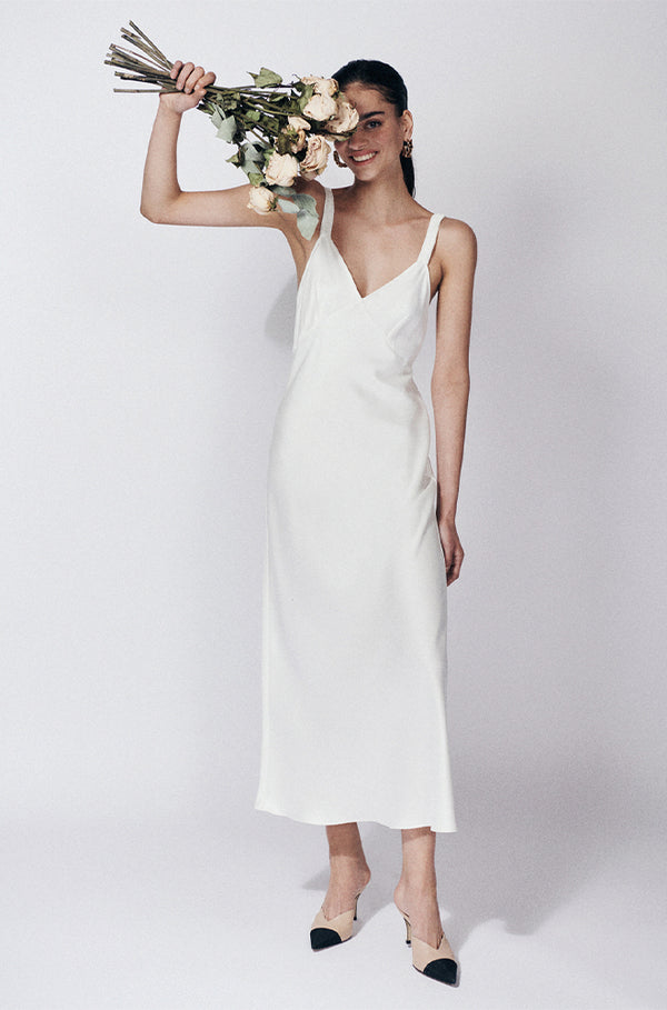 BRIDAL DECO RUCHED DRESS