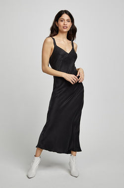 DECO SLIP DRESS BLACK