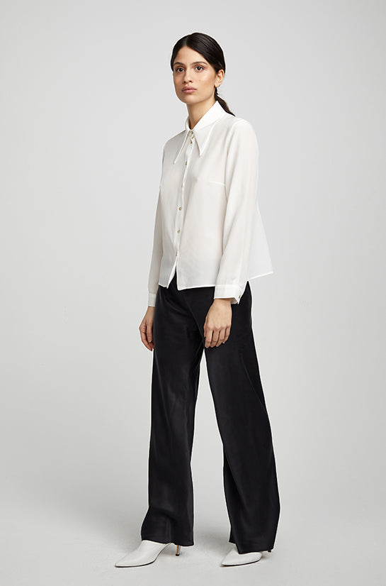 SHARP COLLAR SHIRT WHITE