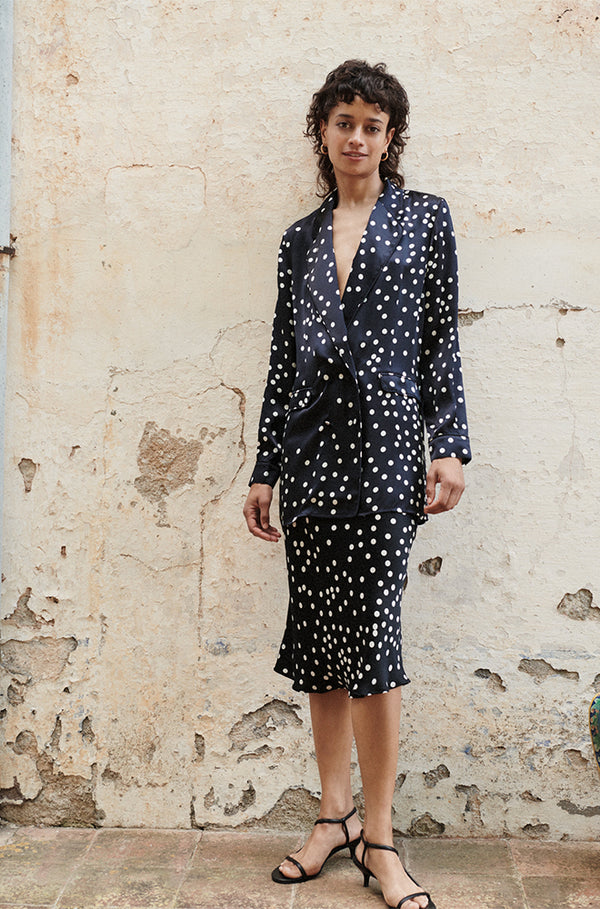 RELAXED BLAZER BROKEN DOT
