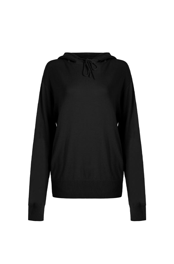 HOODED SWEATER BLACK