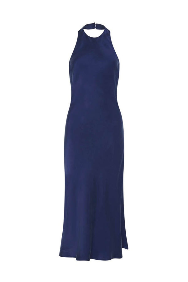 HALTER DRESS DEEP BLUE