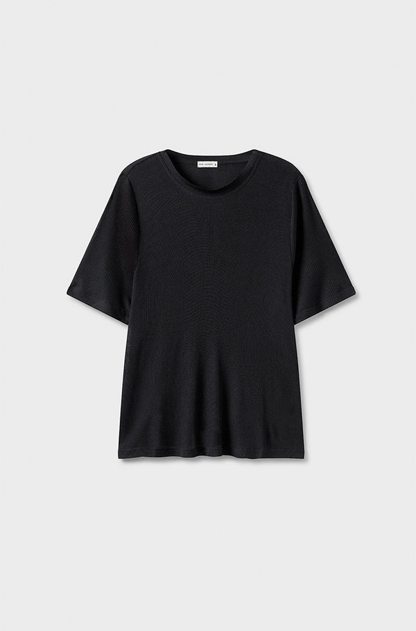 RIBBED T-SHIRT BLACK