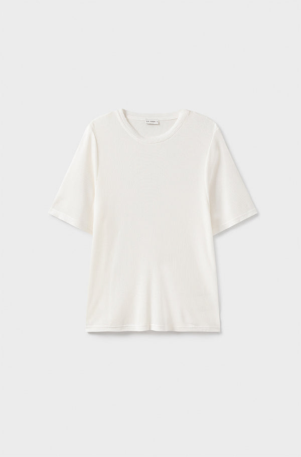 RIBBED T-SHIRT WHITE