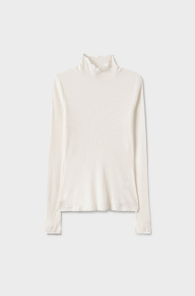 RIBBED TURTLENECK WHITE