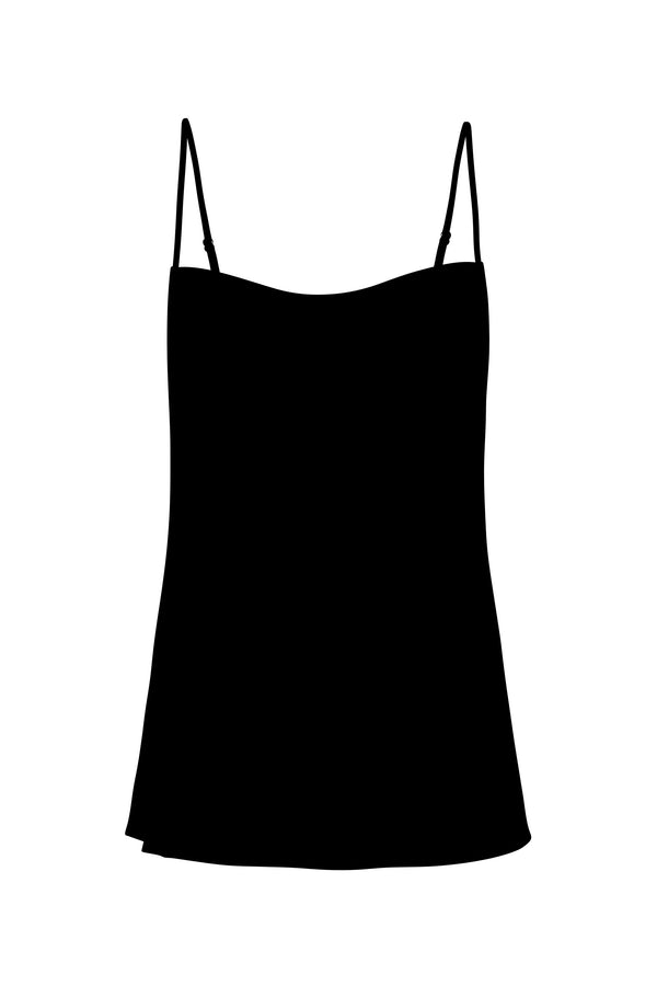 STRAIGHT NECK CAMI BLACK