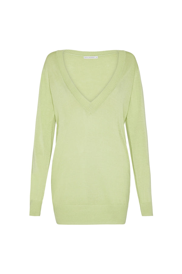 DEEP V SWEATER LUMINARY